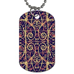 Tribal Ornate Pattern Dog Tag (two Sides) by dflcprints