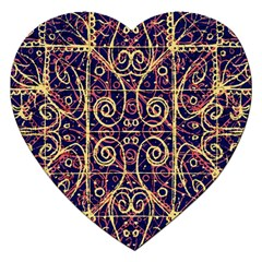 Tribal Ornate Pattern Jigsaw Puzzle (heart) by dflcprints