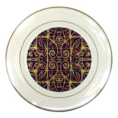 Tribal Ornate Pattern Porcelain Plates by dflcprints