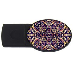 Tribal Ornate Pattern Usb Flash Drive Oval (4 Gb) by dflcprints