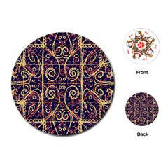Tribal Ornate Pattern Playing Cards (round)  by dflcprints