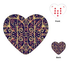Tribal Ornate Pattern Playing Cards (Heart)