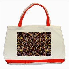 Tribal Ornate Pattern Classic Tote Bag (Red)