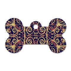 Tribal Ornate Pattern Dog Tag Bone (two Sides) by dflcprints