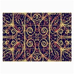 Tribal Ornate Pattern Large Glasses Cloth