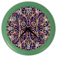 Tribal Ornate Pattern Color Wall Clocks by dflcprints