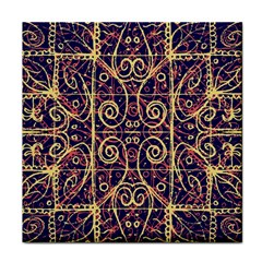 Tribal Ornate Pattern Face Towel by dflcprints