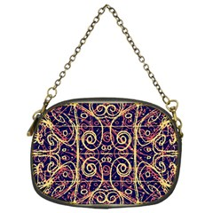 Tribal Ornate Pattern Chain Purses (one Side)  by dflcprints