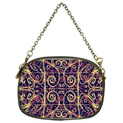 Tribal Ornate Pattern Chain Purses (Two Sides)