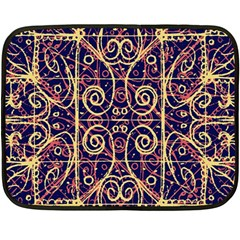Tribal Ornate Pattern Fleece Blanket (mini) by dflcprints