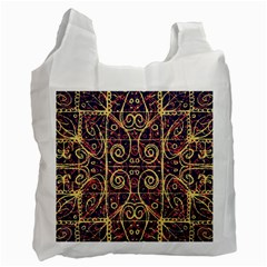 Tribal Ornate Pattern Recycle Bag (one Side) by dflcprints
