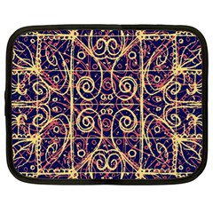 Tribal Ornate Pattern Netbook Case (xl)  by dflcprints