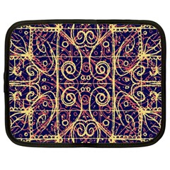 Tribal Ornate Pattern Netbook Case (xxl)  by dflcprints