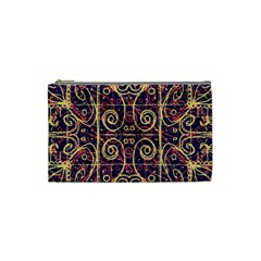 Tribal Ornate Pattern Cosmetic Bag (small)  by dflcprints