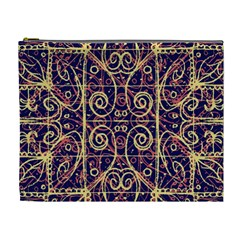 Tribal Ornate Pattern Cosmetic Bag (xl) by dflcprints