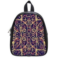 Tribal Ornate Pattern School Bags (small)  by dflcprints