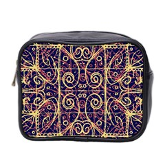 Tribal Ornate Pattern Mini Toiletries Bag 2 Side by dflcprints