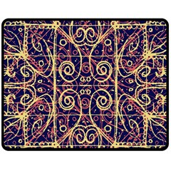 Tribal Ornate Pattern Fleece Blanket (medium)  by dflcprints