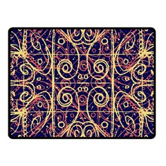 Tribal Ornate Pattern Fleece Blanket (small) by dflcprints
