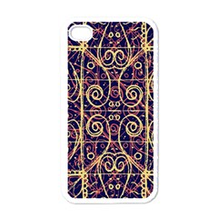 Tribal Ornate Pattern Apple Iphone 4 Case (white) by dflcprints