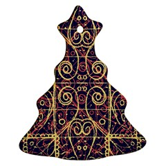 Tribal Ornate Pattern Ornament (christmas Tree)  by dflcprints