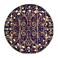 Tribal Ornate Pattern Round Filigree Ornament (Two Sides)