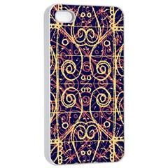 Tribal Ornate Pattern Apple iPhone 4/4s Seamless Case (White)