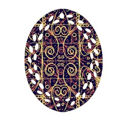 Tribal Ornate Pattern Oval Filigree Ornament (two Sides) by dflcprints