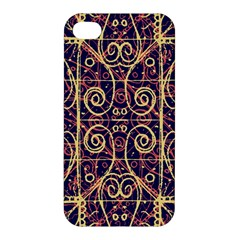 Tribal Ornate Pattern Apple Iphone 4/4s Premium Hardshell Case by dflcprints