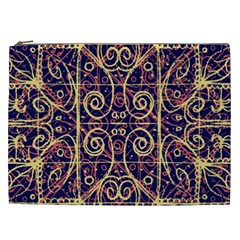 Tribal Ornate Pattern Cosmetic Bag (xxl)  by dflcprints