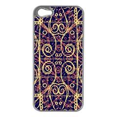 Tribal Ornate Pattern Apple iPhone 5 Case (Silver)