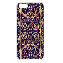Tribal Ornate Pattern Apple Iphone 5 Seamless Case (white) by dflcprints