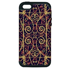 Tribal Ornate Pattern Apple Iphone 5 Hardshell Case (pc+silicone) by dflcprints