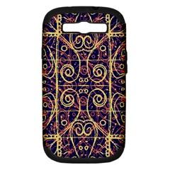 Tribal Ornate Pattern Samsung Galaxy S III Hardshell Case (PC+Silicone)
