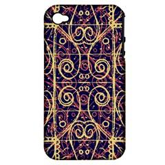 Tribal Ornate Pattern Apple iPhone 4/4S Hardshell Case (PC+Silicone)