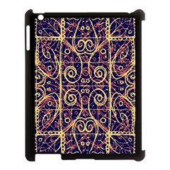 Tribal Ornate Pattern Apple Ipad 3/4 Case (black) by dflcprints
