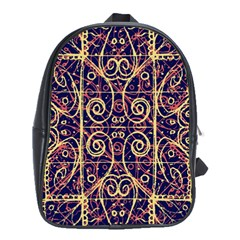 Tribal Ornate Pattern School Bags (xl)  by dflcprints