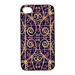 Tribal Ornate Pattern Apple iPhone 4/4S Hardshell Case with Stand