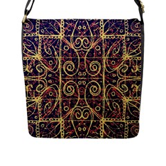 Tribal Ornate Pattern Flap Messenger Bag (l)  by dflcprints