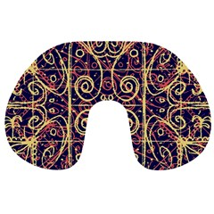 Tribal Ornate Pattern Travel Neck Pillows by dflcprints