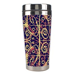 Tribal Ornate Pattern Stainless Steel Travel Tumblers by dflcprints