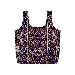 Tribal Ornate Pattern Full Print Recycle Bags (s)  by dflcprints