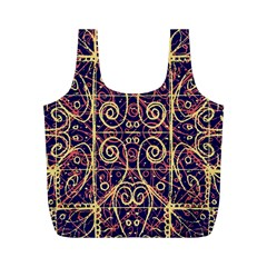 Tribal Ornate Pattern Full Print Recycle Bags (m)  by dflcprints