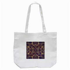 Tribal Ornate Pattern Tote Bag (white) by dflcprints
