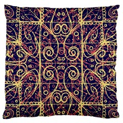 Tribal Ornate Pattern Standard Flano Cushion Case (two Sides) by dflcprints