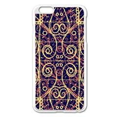 Tribal Ornate Pattern Apple iPhone 6 Plus/6S Plus Enamel White Case
