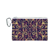 Tribal Ornate Pattern Canvas Cosmetic Bag (s) by dflcprints