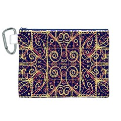 Tribal Ornate Pattern Canvas Cosmetic Bag (xl) by dflcprints