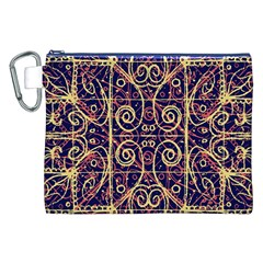 Tribal Ornate Pattern Canvas Cosmetic Bag (xxl) by dflcprints