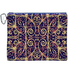 Tribal Ornate Pattern Canvas Cosmetic Bag (xxxl) by dflcprints